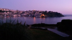 Polruan at night