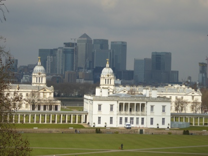 Greenwich with Canary Wharf in the background