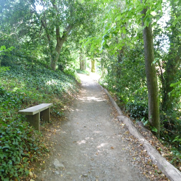 Pathway from the ferry up to Greenways